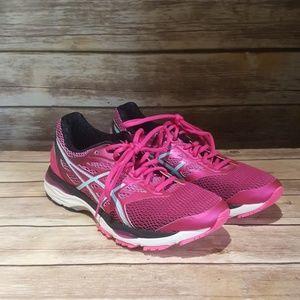 Asics Gel Cumulus 18 Pink Athletic Shoe   Size 9